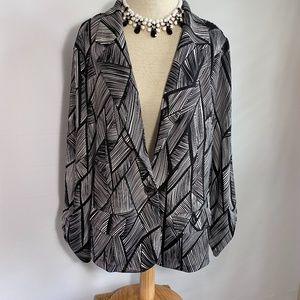 Robert Louis print stretch blazer career jacket